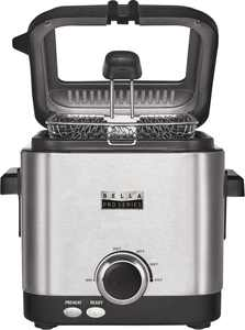 Bella - Pro Series 1.6qt Deep Fryer - Stainless Steel