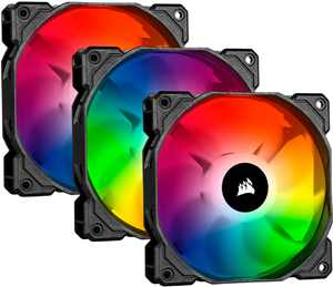 CORSAIR - iCUE SP120 RGB PRO 120mm System Cabinet Fan Kit with RGB Lighting - Black/White