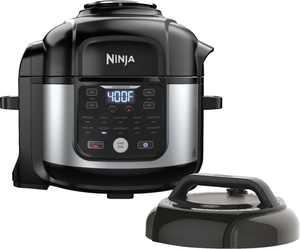 Ninja Foodi 8qt 9-in-1 Deluxe XL Digital Multi Cooker with Air Fryer - Stainless Steel/Black