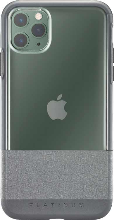 Platinum - Hard Shell Case for Apple iPhone 11 Pro Max - Charcoal With Clear Accents