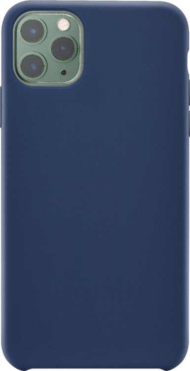 Insignia - Silicone Hard Shell Case for Apple iPhone 11 Pro Max - Midnight Navy Blue