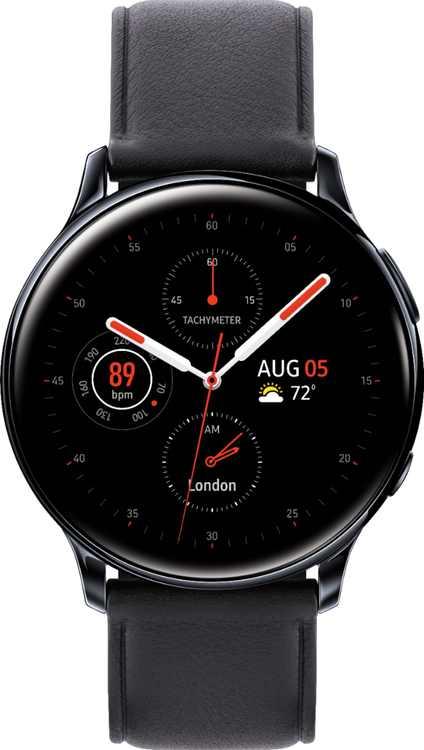 Samsung - Galaxy Watch Active2 Smartwatch 40mm Stainless Steel LTE (Unlocked) - Black