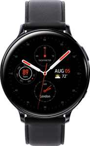 Samsung - Galaxy Watch Active2 Smartwatch 44mm Stainless Steel LTE (Unlocked) - Black