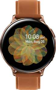 Samsung - Galaxy Watch Active2 Smartwatch 44mm Stainless Steel LTE (Unlocked) - Gold