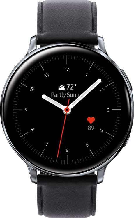 Samsung - Galaxy Watch Active2 Smartwatch 44mm Stainless Steel LTE (Unlocked) - Silver