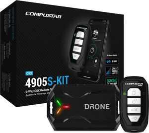 Compustar - 2-Way CSX Remote Start System/LTE Module - Black