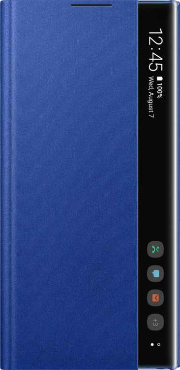 S-View Flip Cover Case for Samsung Galaxy Note10+ and Note10+ 5G - Blue