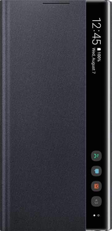 S-View Flip Cover Case for Samsung Galaxy Note10 Cell Phones - Black