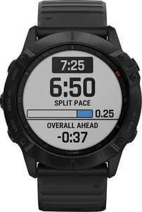 Garmin - fēnix 6X Pro Smartwatch 51mm Fiber-Reinforced Polymer - Black With Black Band