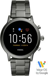 Fossil - Gen 5 Smartwatch 44mm Stainless Steel - Smoke with Smoke Stainless Steel Band