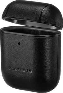 Platinum - Leather Case for Apple AirPods - Black