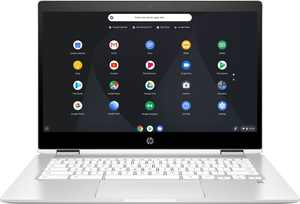 "HP - 2-in-1 14"" Touch-Screen Chromebook - Intel Pentium Silver - 4GB Memory - 64GB eMMC Flash Memory - Ceramic White"
