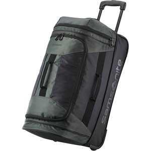 """Samsonite - Andante 2 22"""" Wheeled Duffel Bag - Black/Moss Green"""