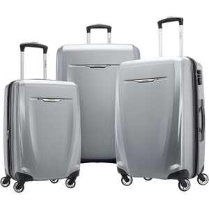 Samsonite - Winfield 3 DLX Wheeled Luggage Set (3-Piece) - Silver