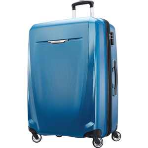 """Samsonite - Winfield 3 DLX 28"""" Expandable Spinner Suitcase - Blue/Navy"""