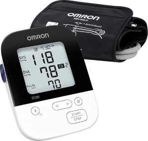 Omron - 5 Series - Wireless Upper Arm Blood Pressure Monitor - White/Black
