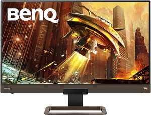 BenQ - EX2780Q 27 Inch 1440P 144Hz IPS Gaming Monitor   FreeSync Premium   HDRi   Speakers - Metallic Gray