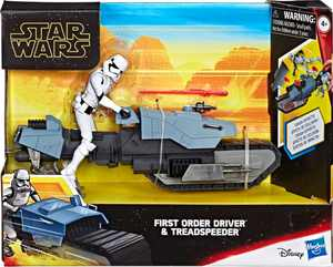 Hasbro - Star Wars Galaxy of Adventures First Order Driver And Treadspeeder