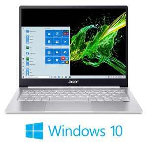 "Acer Swift 3 13.5"" 2K UHD PC Laptops, Intel Core i5 1035G4, 8GB RAM, 256GB SSD, Windows 10, Silver, SF313-52-526M"