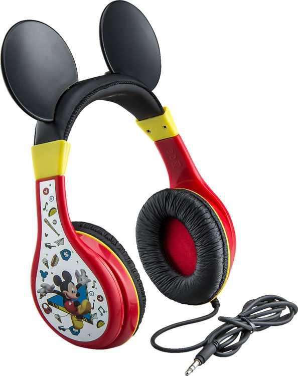 eKids - Disney Junior Mickey Wired On-Ear Headphones - Black/Red