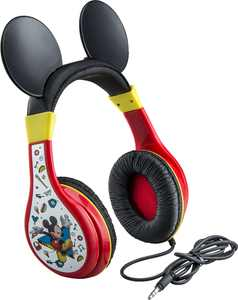 eKids - Disney Junior Mickey Wired On-Ear Headphones - Black/Red