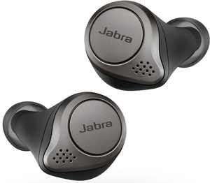 Jabra - Elite 75t True Wireless Active Noise Cancelling In-Ear Headphones - Titanium Black