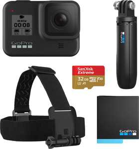 GoPro - HERO8 Black Live Streaming Action Camera Holiday Bundle - Black