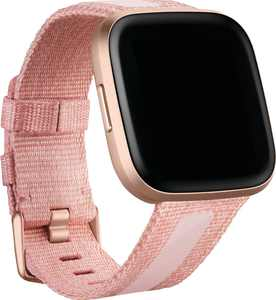 Woven Large Watch Band for Fitbit Versa 2 and Versa Lite - Pink