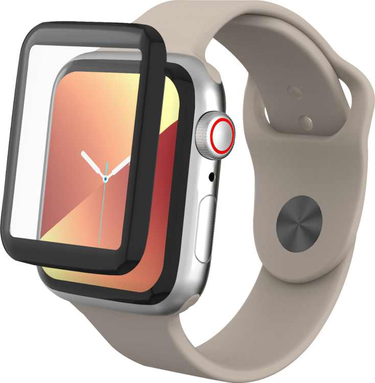 ZAGG - InvisibleShield GlassFusion Screen Protector for Apple Watch Series 4, Series 5, SE, Series 6 44mm - Clear