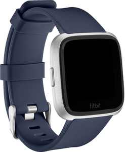 Modal - Silicone Watch Band for Fitbit Versa 2, Fitbit Versa and Fitbit Versa Lite - Navy Blue
