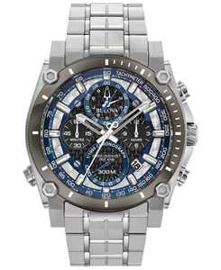 Men's Chronograph Precisionist Stainless Steel Bracelet Watch 46.5mm