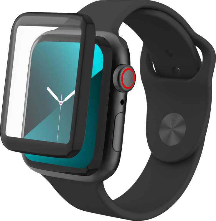 ZAGG - InvisibleShield GlassFusion Screen Protector for Apple Watch Series 4, Series 5, SE, Series 6 40mm - Clear