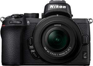 Nikon - Z50 Mirrorless 4K Video Camera with NIKKOR Z DX 16-50mm f/3.5-6.3 VR Lens - Black