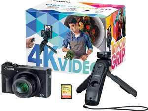 Canon - PowerShot G7 X Mark III 20.1-Megapixel Digital Camera Video Creator Kit - Black