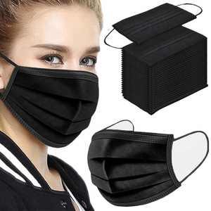100Pcs black Disposable Face Mask(General Use)