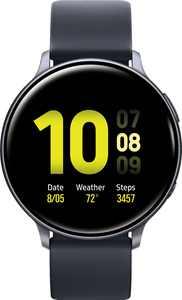Samsung - Geek Squad Certified Refurbished Galaxy Watch Active2 Smartwatch 44mm Aluminum - Aqua Black