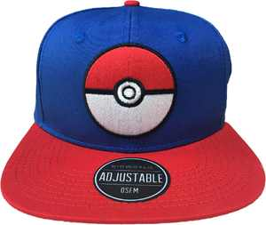 Bioworld - Pokémon Snapback Hat - Blue/Black