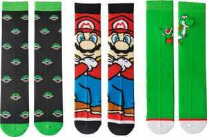 Nintendo - Super Mario Bros. Casual Crew Socks (3-Pack) - Multi