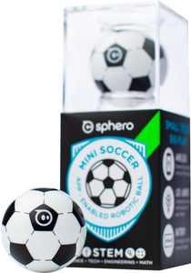 Sphero - Mini Soccer App-Enabled Robotic Ball - Black And White