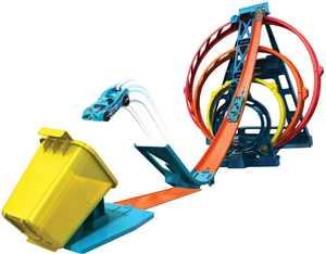 Hot Wheels - Track Builder Triple Loop Kit - Blue/Orange