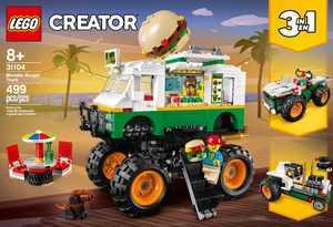 LEGO - Creator 3-in-1 Monster Burger Truck 31104