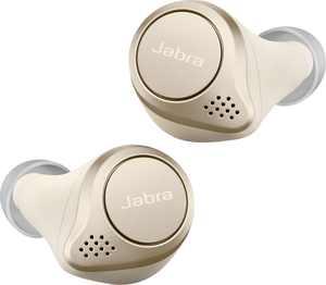 Jabra - Elite 75t True Wireless Active Noise Cancelling In-Ear Headphones - Gold Beige