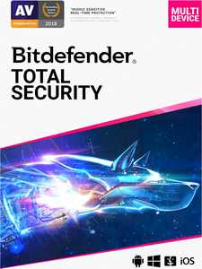 BitDefender - Total Security (5-Device) (2-Year Subscription) - Android, Mac, Windows, iOS [Digital]
