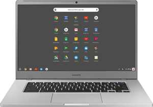 "Samsung - 15.6"" Chromebook - Intel Celeron - 4GB Memory - 128GB eMMC Flash Memory - Platinum Titan"