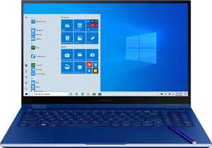 "Samsung - Galaxy Book Flex 2-in-1 15.6"" QLED Touch-Screen Laptop - Intel Core i7 - 12GB Memory - 512GB SSD - Royal Blue"