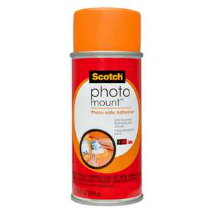 Scotch Photo Mount, Photo-safe Adhesive, Clear, 1 Can