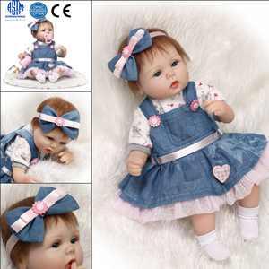 "Zimtown Handmade RealLife Baby Dolls 22"" Soft Silicone Vinyl Reborns Lifelike Newborn Baby Girl Toy Magnetic Pacifier"