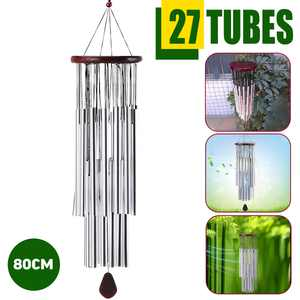 """Large Wind Chimes 31"""" Garden Chimes with 21 Aluminum Tuned Tubes for Indoor Outdoor Garden Patio Decor"""