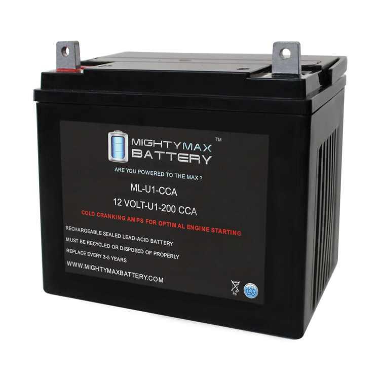 ML-U1 12V 200CCA Battery for Husqvarna LT130 Lawn Tractor Mower