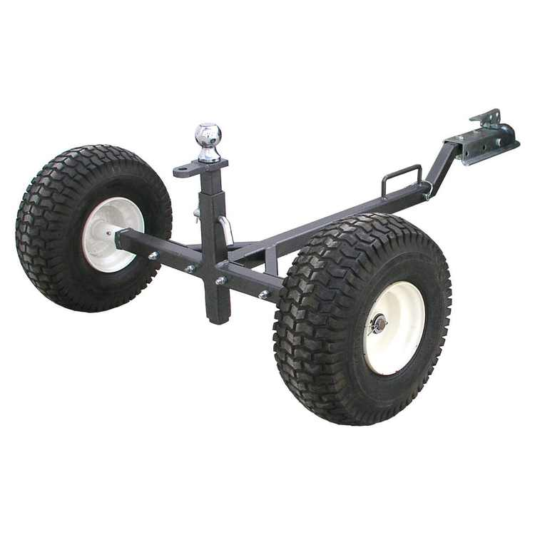 Tow Tuff TMD-800ATV Weight Distributing Adjustable Trailer Dolly